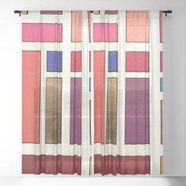 Beautiful Woman Miami Beach, 2019 Sheer Curtain
