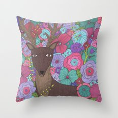 The Wise Stag Throw Pillow