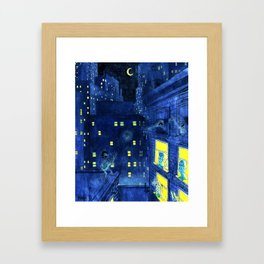 music of the night Framed Art Print