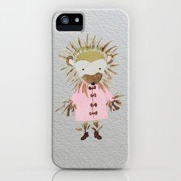 Hedgehog Forest Friends Baby Animals iPhone Case