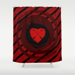 Arrow in the Heart Shower Curtain
