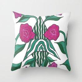 Peony Magic Garden Throw Pillow