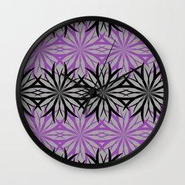 black and purple Wall Clock