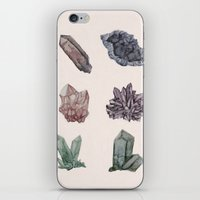 crystals iPhone & iPod Skins featuring Crystals by Samantha Crepeau