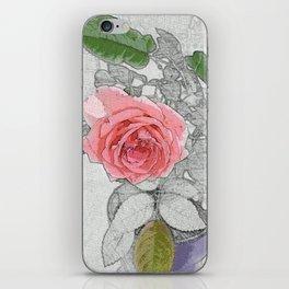 Red Pink Lone Rose by jjhelene iPhone Skin