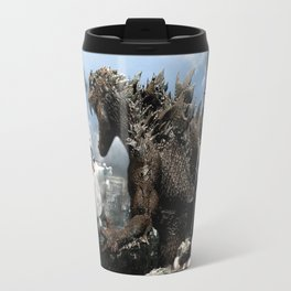 Godzilla versus The Staypuft Marshmallow Man Travel Mug