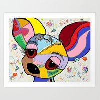 chihuahua Art Prints featuring Chihuahua by EloiseArt