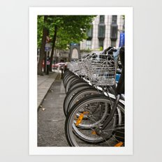 Bikes and Bicycles  Art Print