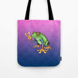 Peace Frog Tote Bag