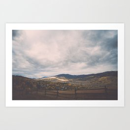 Horse Pasture on the side of a mountain in Colorado Art Print