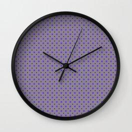Violet Dots Pattern Wall Clock