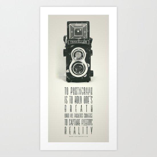 To photograph... Art Print