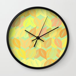 Autumn leaves pattern Wall Clock
