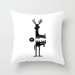 Two Beasts Throw Pillow
