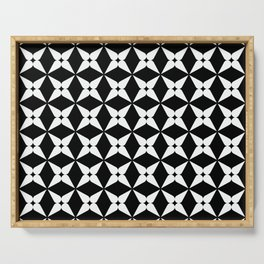 Geometric Pattern 247 (white crosses) Serving Tray