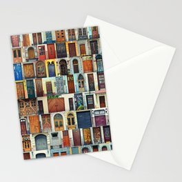 Collage of Kiev front doors,Ukraine Stationery Cards