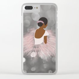 African American Ballerina Dancer Clear iPhone Case