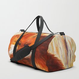 Red fox small nap | Renard roux petite sieste Duffle Bag
