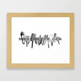 CHOP CHOP Framed Art Print
