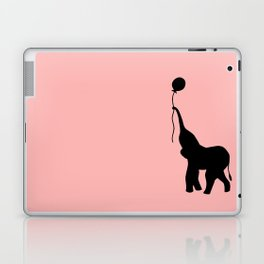 Elephant with Balloon - Pink Laptop & iPad Skin
