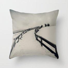 In the Bleak Midwinter Throw Pillow