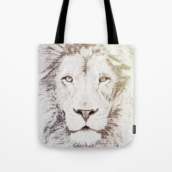 The Intellectual Lion Tote Bag