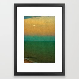 Sea ~ Moon Framed Art Print