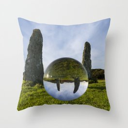 Penrhos Feilw standing stones Throw Pillow