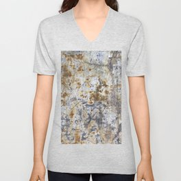 Yellow Painted Wall Warm Unisex V-Neck