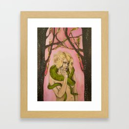 SnakeLady Framed Art Print