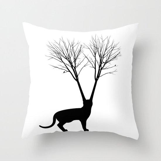 Cat Tree Throw Pillow