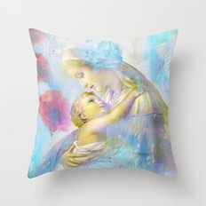 In the Arms of Mary Throw Pillow