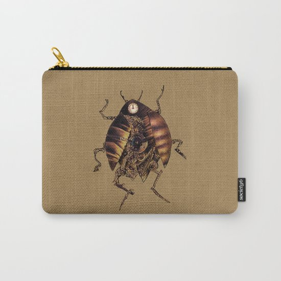 Clock Beetle Carry-All Pouch