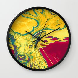 Stag Dimension of Yellow Wall Clock