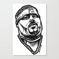 pun Canvas Prints featuring Big Pun by sketchnkustom