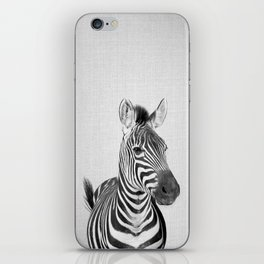 Zebra 2 - Black & White iPhone Skin