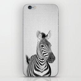 Zebra 2 - Black & White iPhone Skin