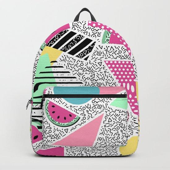 Modern geometric pattern Memphis patterns inspired Backpack