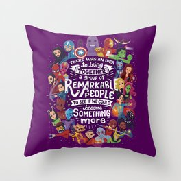 Remarkable People Throw Pillow