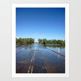 Shaw River Road in Flood Art Print