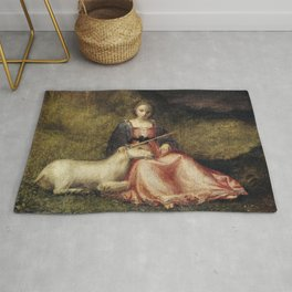Lady with Unicorn foal Rug