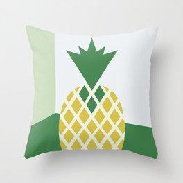 L'hermine ananas Throw Pillow