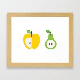 The Apple & Pear Poster Framed Art Print