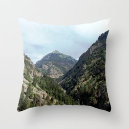 Perilous Road Down the Uncomphgre Gorge Throw Pillow