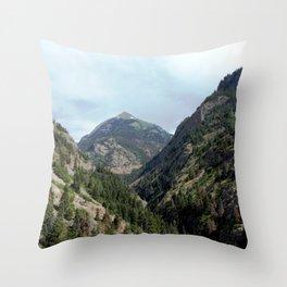 Perilous Road Down the Uncomphgre Gorge Throw Pillow
