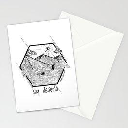 Soy Desierto / I am desert Stationery Cards