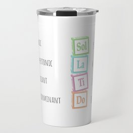 Tones of the Scale Music Theory Baby Blocks Travel Mug