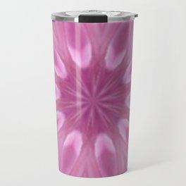 Sweetly Soft Pink Girly Kaleidoscope Travel Mug