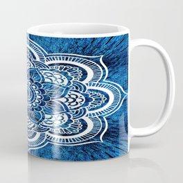 Mandala Cerulean Blue Colorburst Coffee Mug