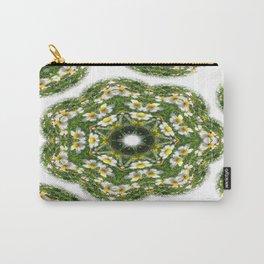 Little White Wildflower Kaleidoscope Art 2 Carry-All Pouch